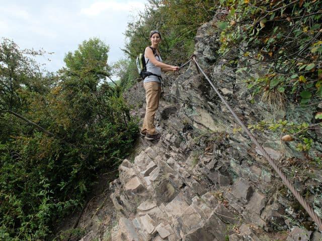Klettersteig Calmont : Der calmont: klettern am steilsten weinberg europas