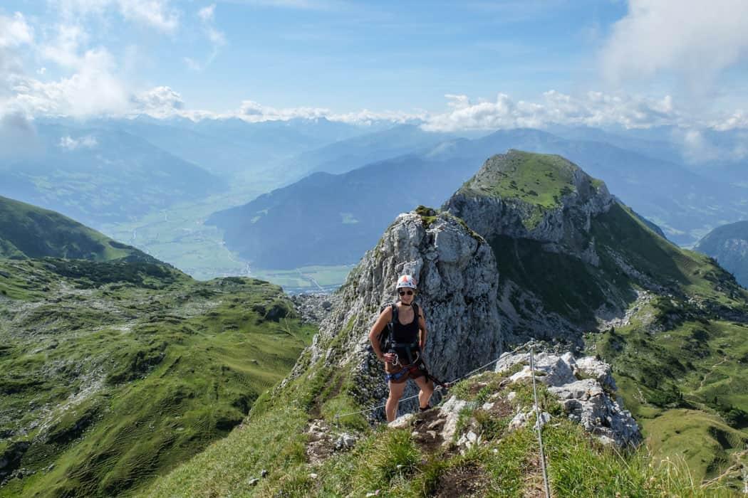 Klettersteig Madrisella : Eins mit dem fels der gipfel klettersteig im rofan gebirge