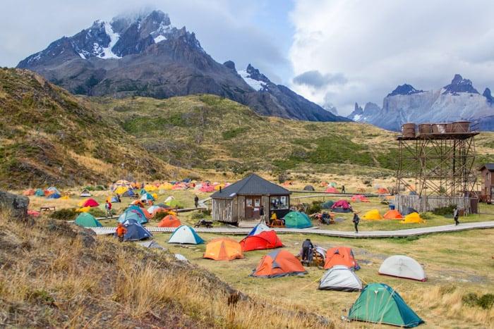 Torres del Paine W-Trek: Alle Infos, Tipps & Erfahrungen - Das Camp Paine Grande