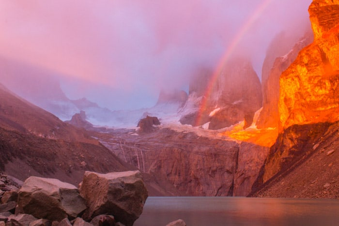 Torres del Paine W-Trek: Alle Infos, Tipps & Erfahrungen -  Sonnenaufgang am Mirador Torres / Lookout