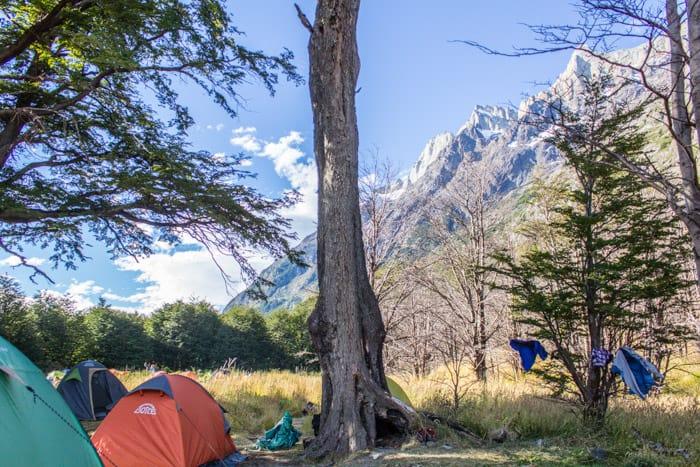 Torres del Paine W-Trek: Alle Infos, Tipps & Erfahrungen - Das Camp Grey
