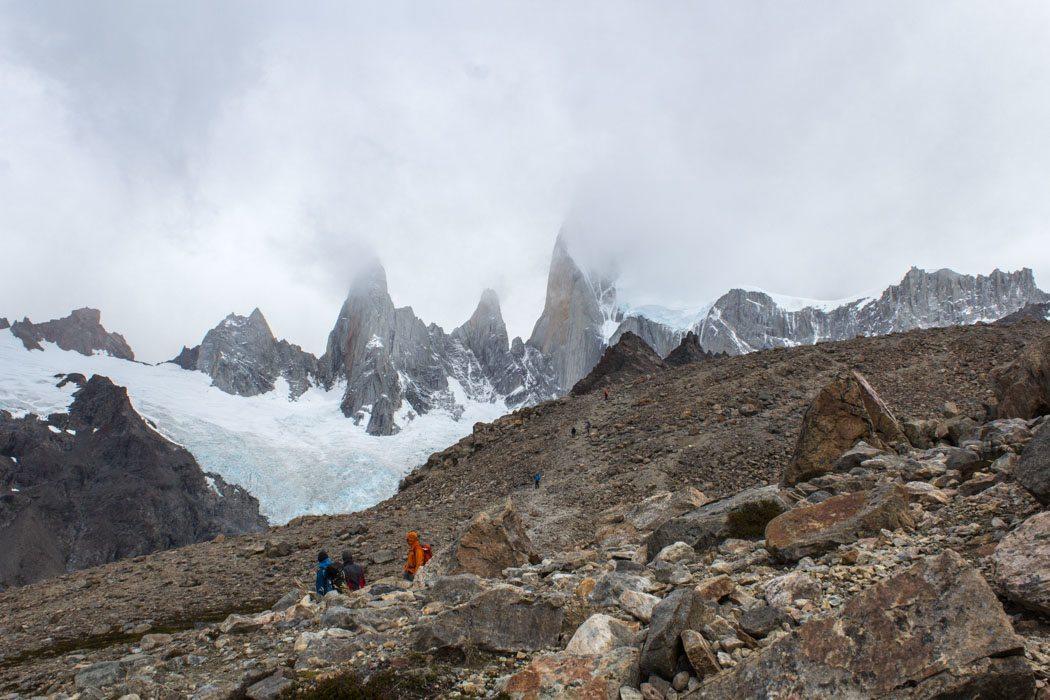El Chaltén - Wanderung zur Laguna Los Tres - es wird alpin