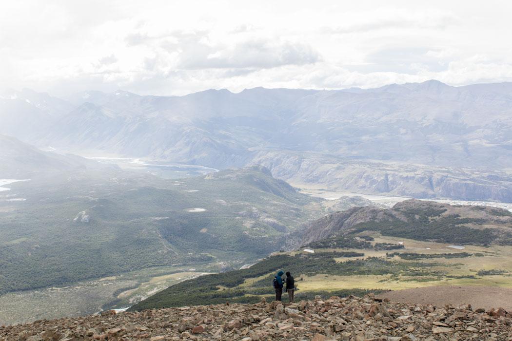 El Chaltén - Wanderung zum Loma del Pliegue Tumbado - Blick vom Gipfel