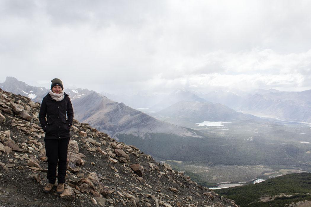 El Chaltén - Wanderung zum Loma del Pliegue Tumbado - Am Gipfel