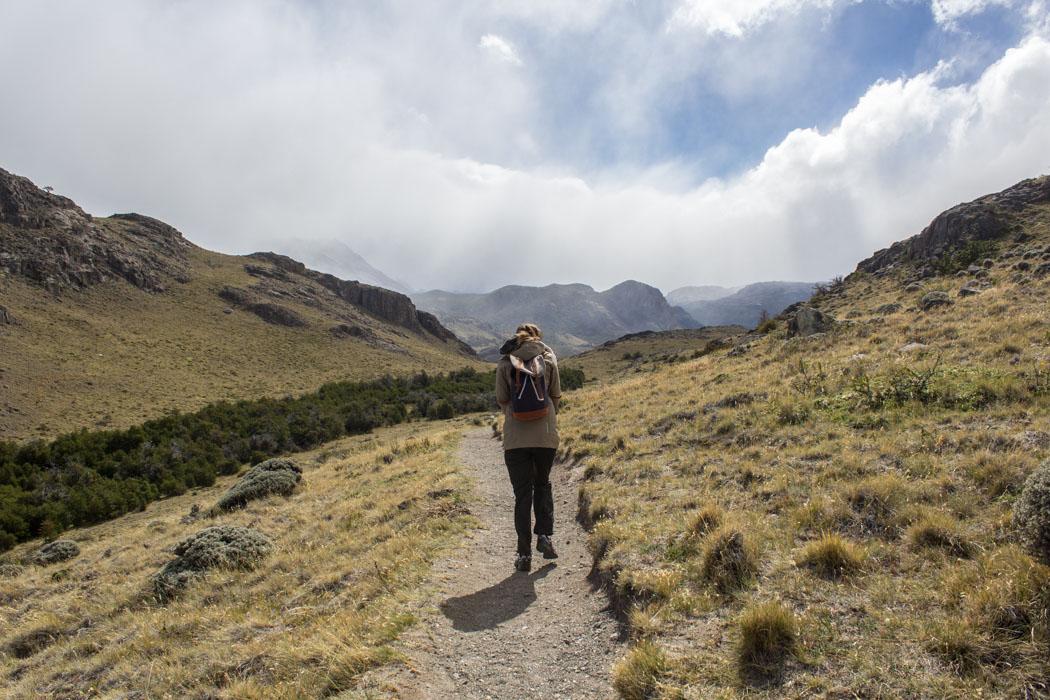 El Chaltén - zu den Miradores Los Cóndores und Las Águilas - Rückweg