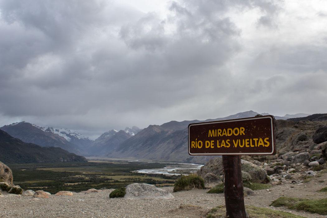 El Chaltén - Wanderung zur Laguna Los Tres - Mirador Rio de Las Vueltas