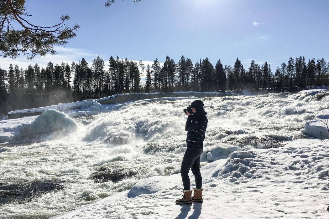 Schwedisch Lappland - 7 Abenteuer, die du erleben musst! z.B. Fotografieren im Storforsen Nationalpark