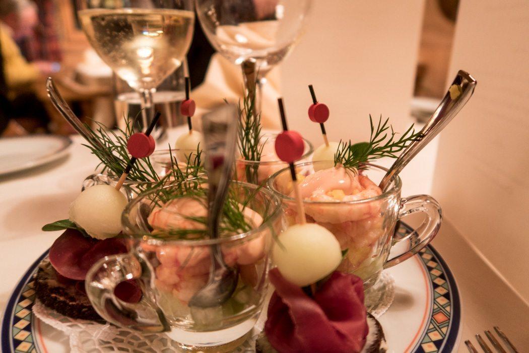 St. Moritz & das Rezept für ein perfektes Schneewochenende: Kulm Hotel St. Moritz, Abendessen Vorspeise