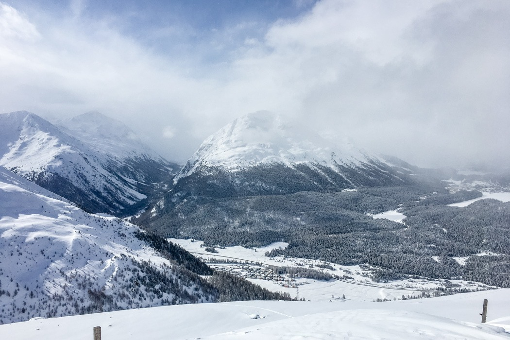 St. Moritz & das Rezept für ein perfektes Schneewochenende: Muottas Muragl Aussicht im Winter