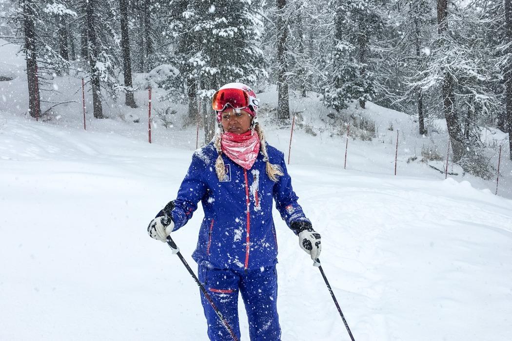 St. Moritz & das Rezept für ein perfektes Schneewochenende: Kulm Hotel St. Moritz, Yoga on Snow / Skiyoga, Lehrerin