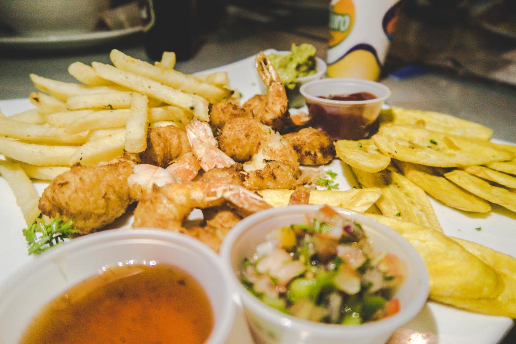 Food Diary Zentralamerika - Panama & Honduras kulinarisch - hier: Coconut Shrimps