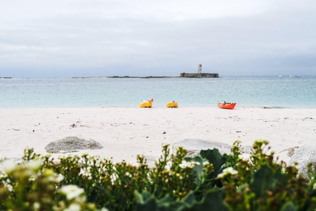 """Glénan Archipel - Kajaken bei den """"Südseeinseln"""" der Bretagne: kurze Pause"""