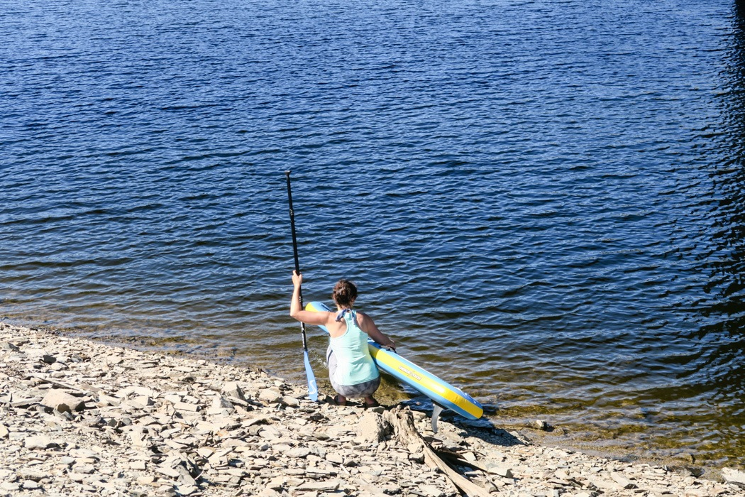 Stand Up Paddling / SUP im Harz an der Okertalsperre: los gehts!