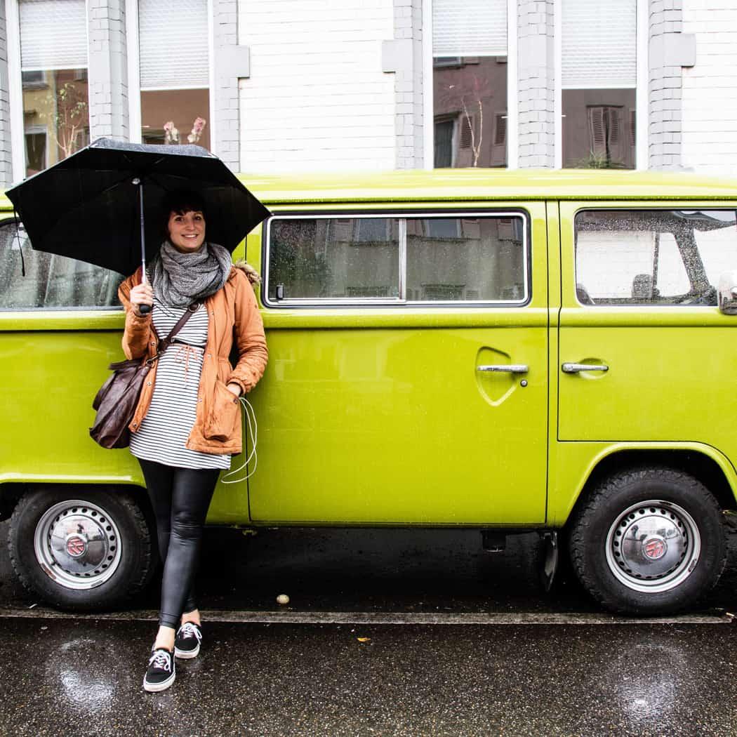 Dem Regen trotzen in Esslingen