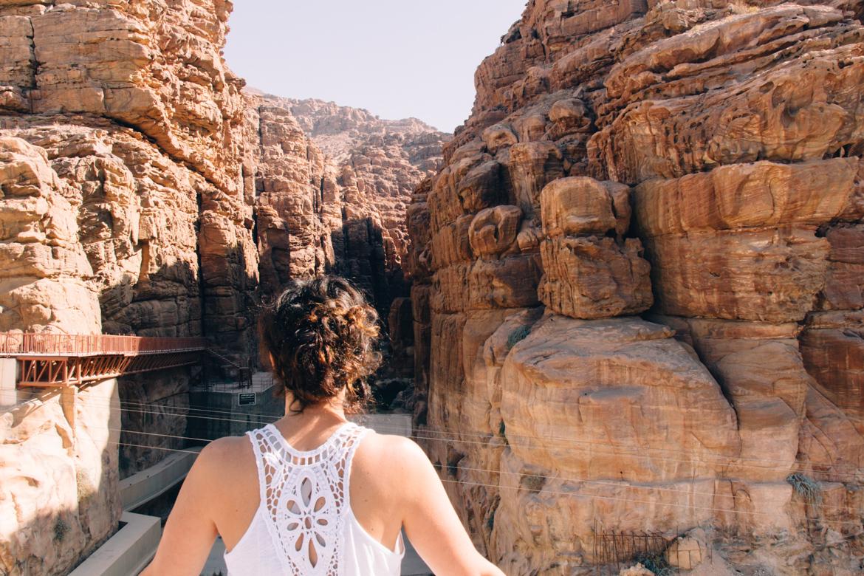 Abenteuer Jordanien: Blick Richtung Wadi Mujib - leider blieb keine Zeit mehr für eine Canyoningtour