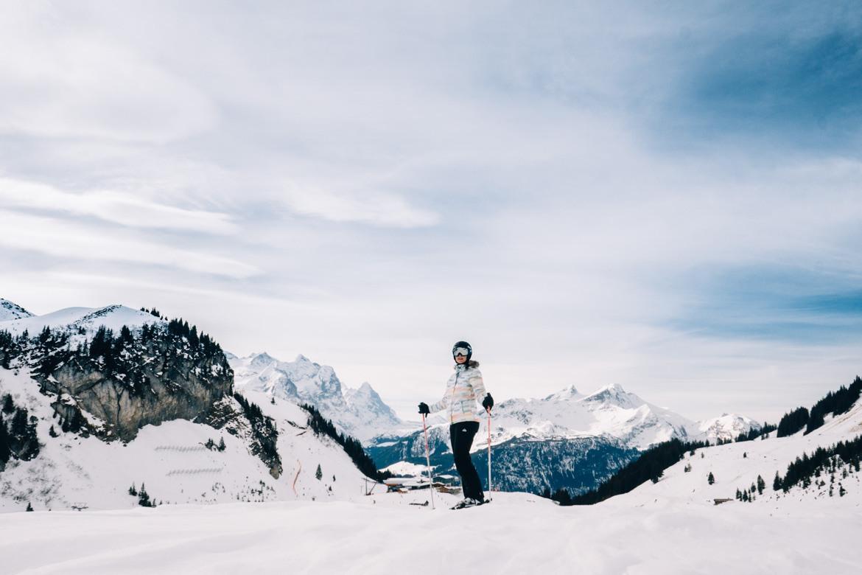 Jungfrau Region / Schweiz - Skifahren mit Panoramablick in Meiringen-Hasliberg