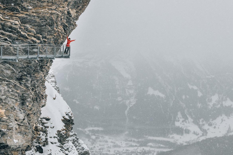 Jungfrau Region / Schweiz - Spektakulärer Cliff Walk auf der First - sogar bei schlechtem Wetter