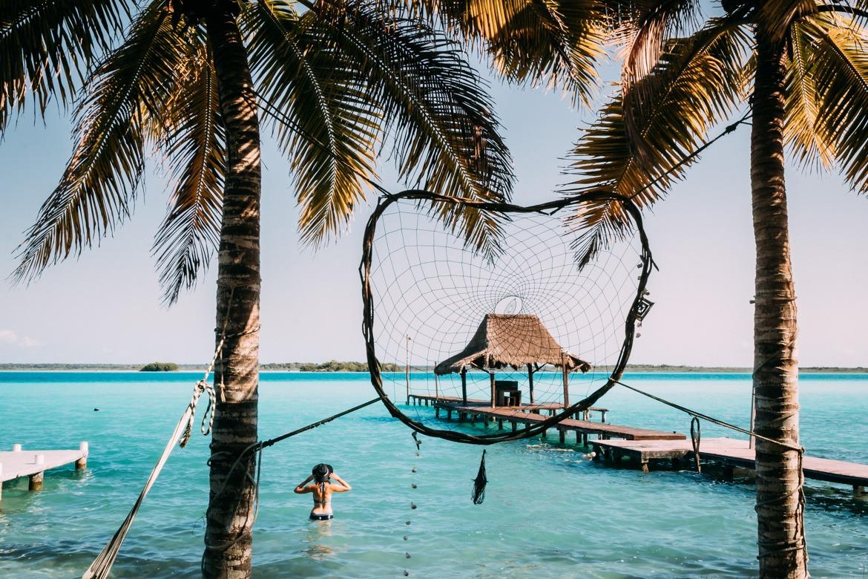 Nicht das Meer aber mindestens genauso schön: die Süßwasser Langune Bacalar