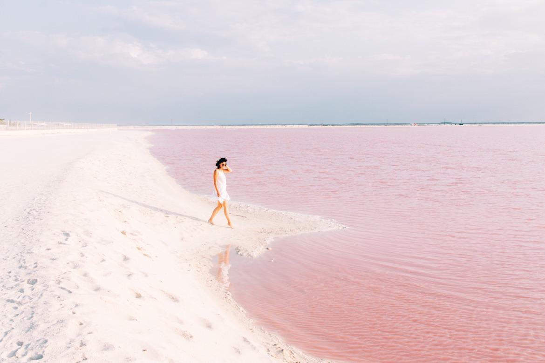Die rosa Lagune Las Coloradas