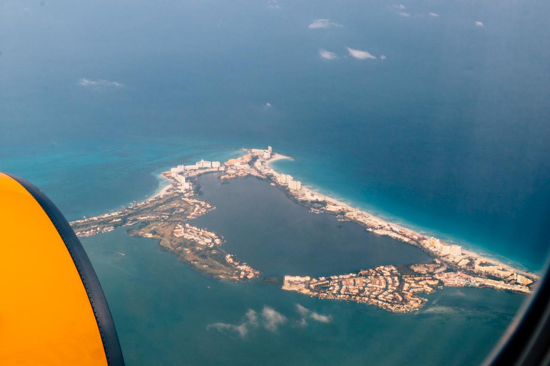 Anflug auf Cancun