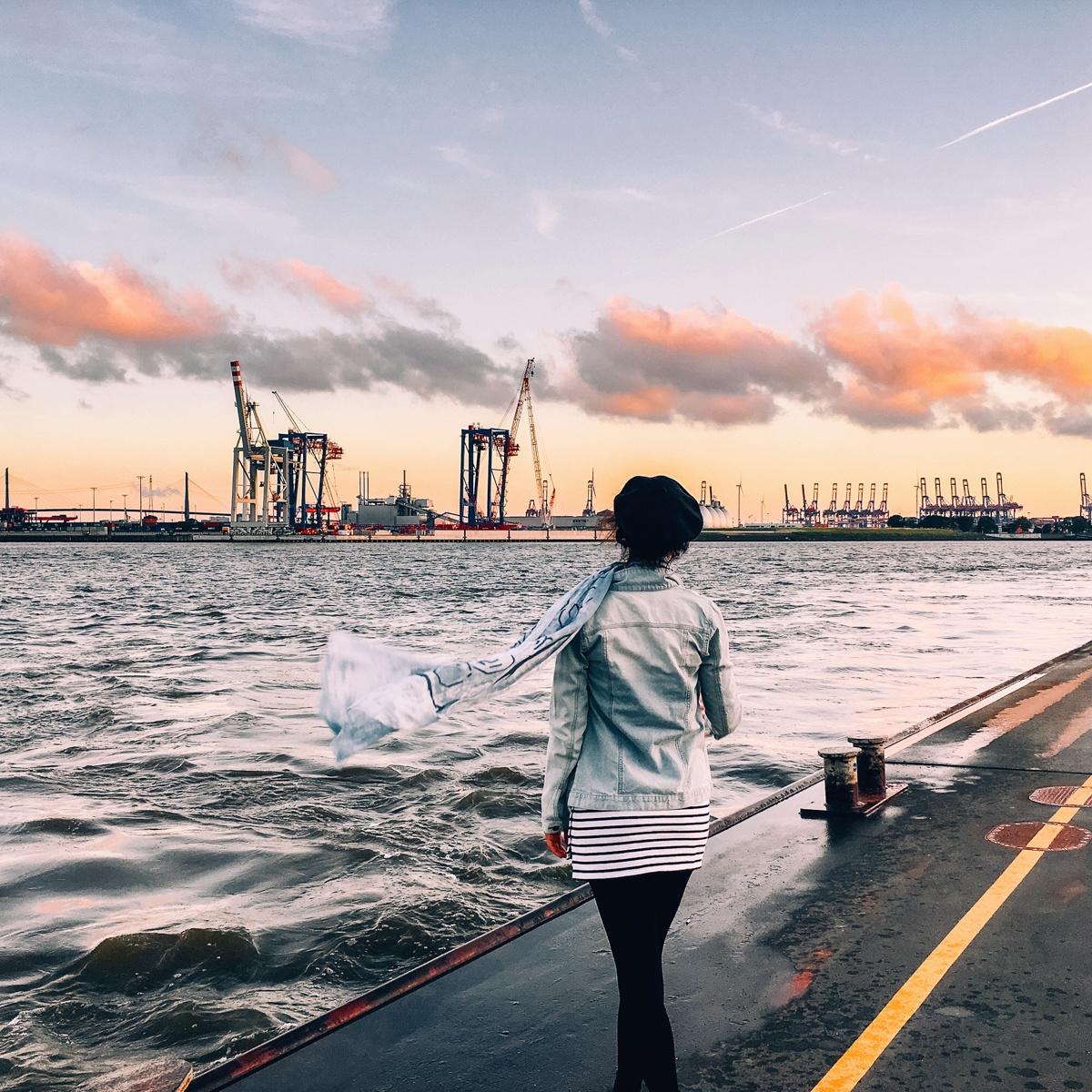 Juli Update - Sonnenuntergang am Hamburger Hafen ist immer wieder schön <3
