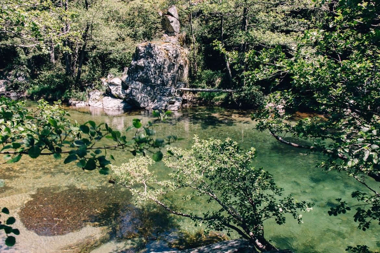 Lozere - Klettersteig Via Ferrata des Rousses: Der Fluss Jonte