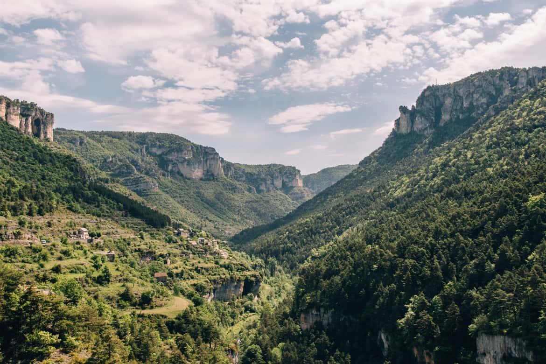 Lozere - Auf zum Klettern in der Gorges du Tarn: Die Schlucht von oben