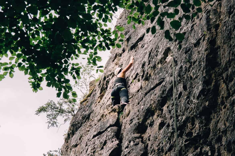 Lozere - Klettern auch für Anfänger im Cirque des Baumes: Fast oben