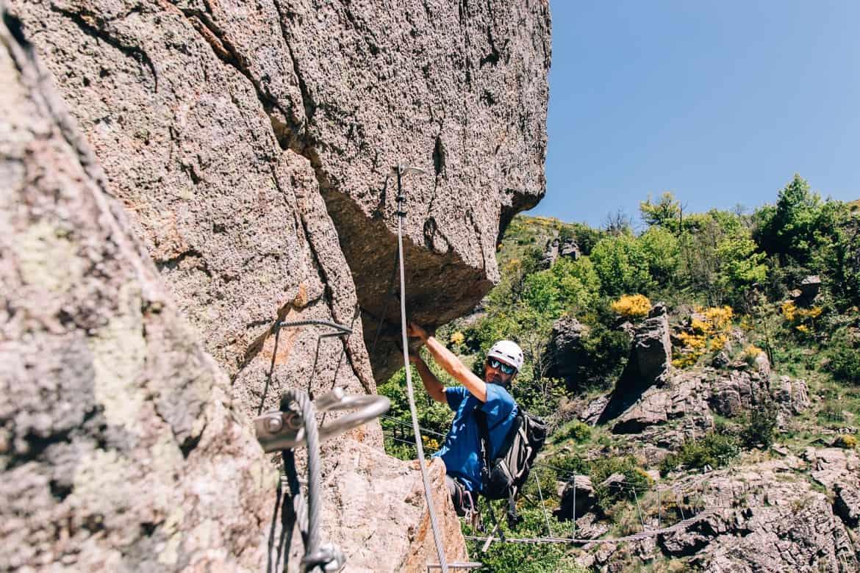 Lozere - der Klettersteig Via Ferrata des Rousses