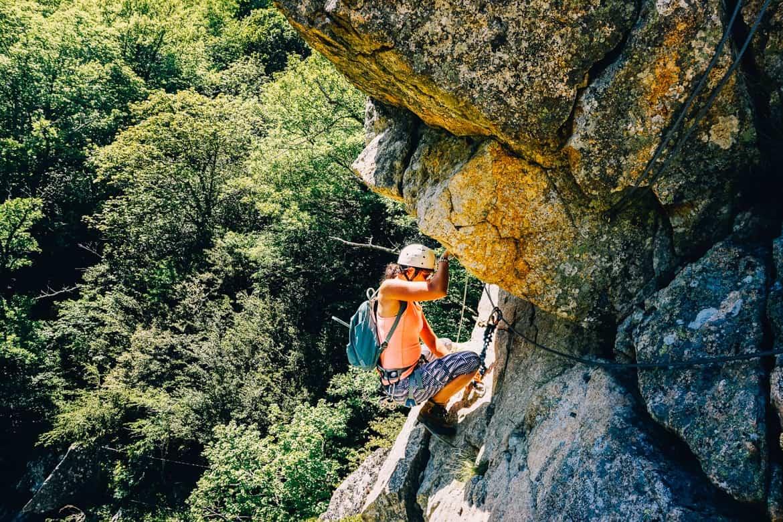 Lozere - der Klettersteig Via Ferrata des Rousses - auch was für Einsteiger