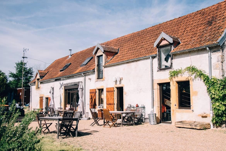 Burgund - Hausbooturlaub im Dorf La Toue Cabanée in Chavannes
