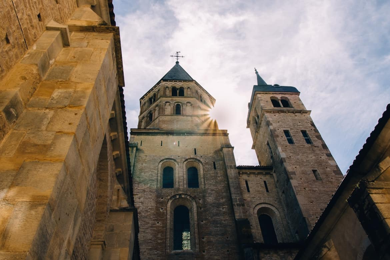 Burgund - Die berühmte Abtei Cluny - so groß!