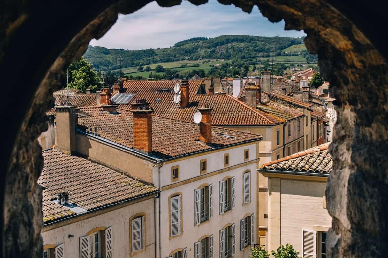 Burgund - Die beste Aussicht auf Cluny vom Tour des Fromages