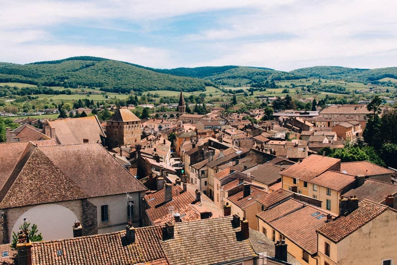 Burgund - Die beste Aussicht auf Cluny vom Tour des Fromages 2