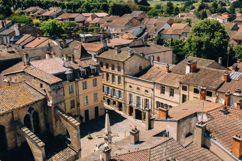 Burgund - Die beste Aussicht auf Cluny vom Tour des Fromages 3