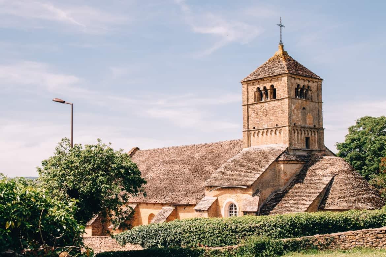 Burgund - Radtour auf dem Voie Verte von Cluny nach Cormatin: das Dorf Ameugny 2