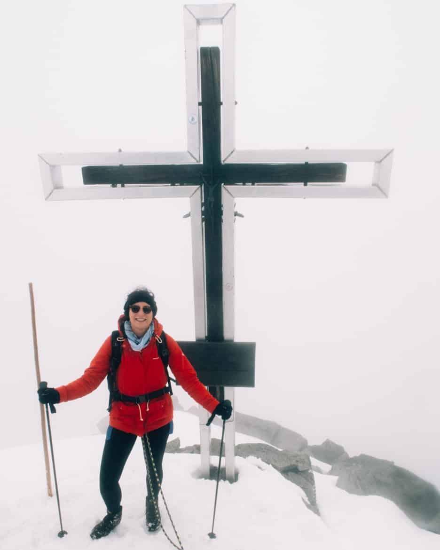 Großvenediger Besteigung: Großvenediger Gipfel im Nebel