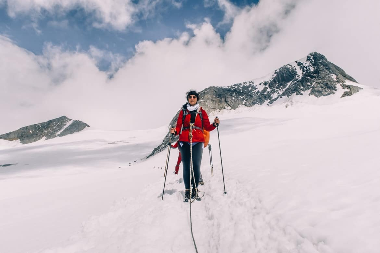 Großvenediger Besteigung: Abstieg zum Defreggerhaus