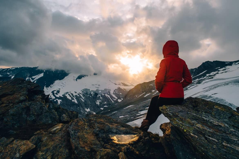Großvenediger Besteigung: Sonnenuntergang vom Defreggerhaus