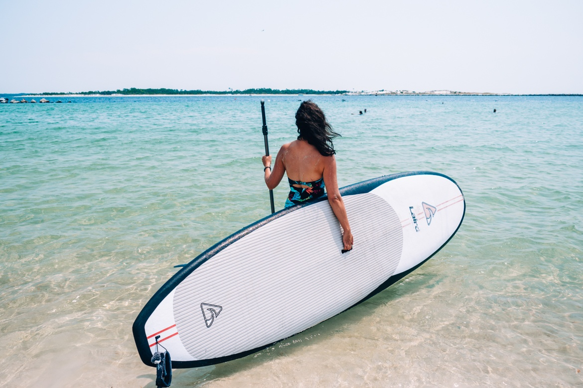 Panama City Beach: St. Andrews State Park, SUP