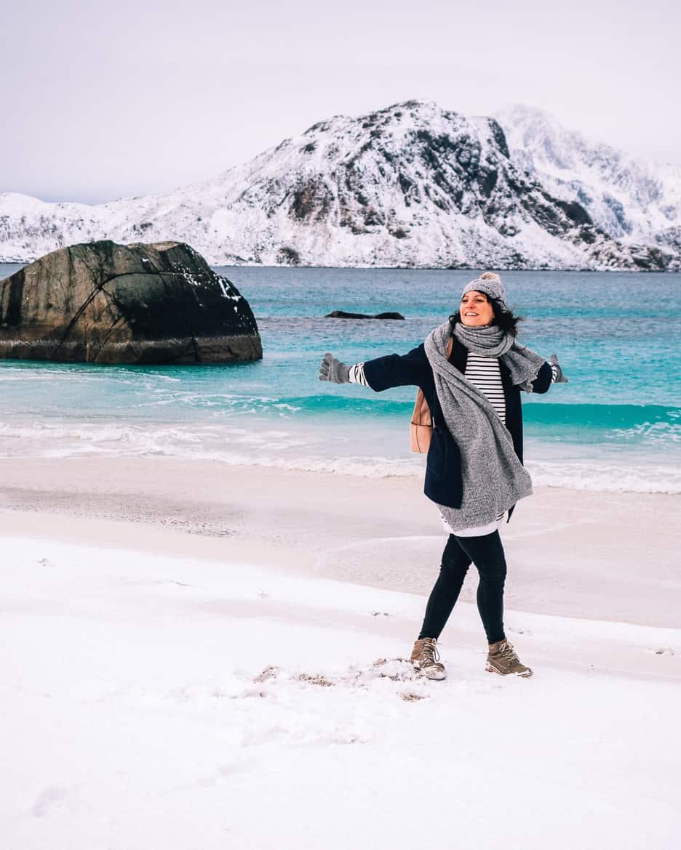 März Update - Die Nordländerin in mir und wie ich mich in die Lofoten verliebte: Haukland Beach