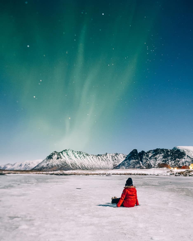 März Update - Die Nordländerin in mir und wie ich mich in die Lofoten verliebte: Nordlichter über Sandøya