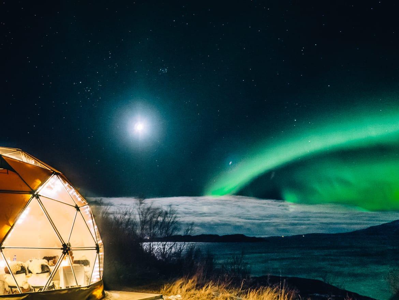 Bodø - Nordlichter, Streetart & unbändige Natur in Nordnorwegen - Nordlichter Arctic Dome