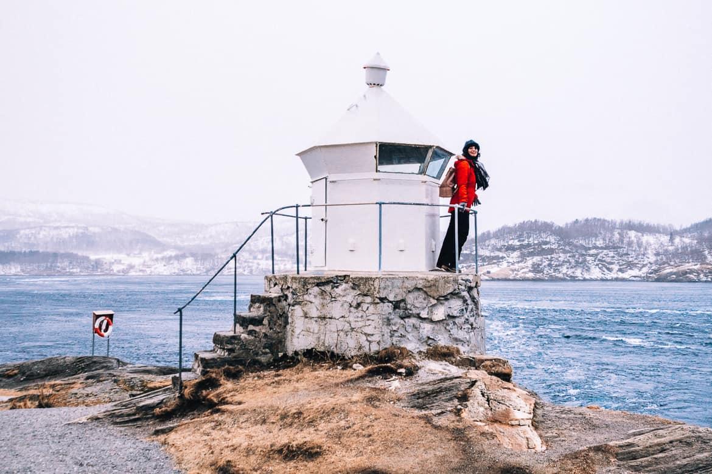 Bodø - Nordlichter, Streetart & unbändige Natur in Nordnorwegen - Saltstraumen Leuchtturm