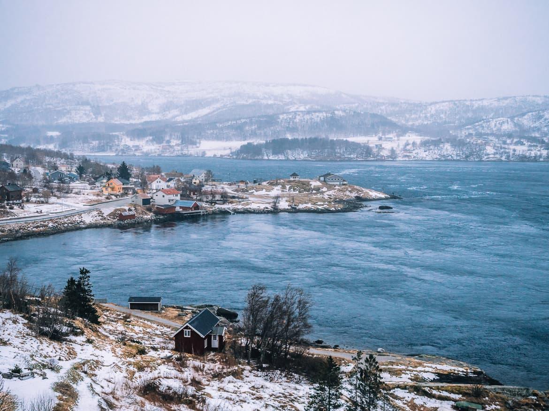 Bodø - Nordlichter, Streetart & unbändige Natur in Nordnorwegen - Saltstraumen Gezeitenstrom von Saltstraumen Brücke