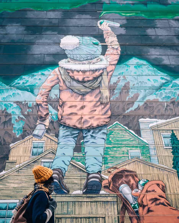 "Bodø - Nordlichter, Streetart & unbändige Natur in Nordnorwegen - Streetart ""After School"""