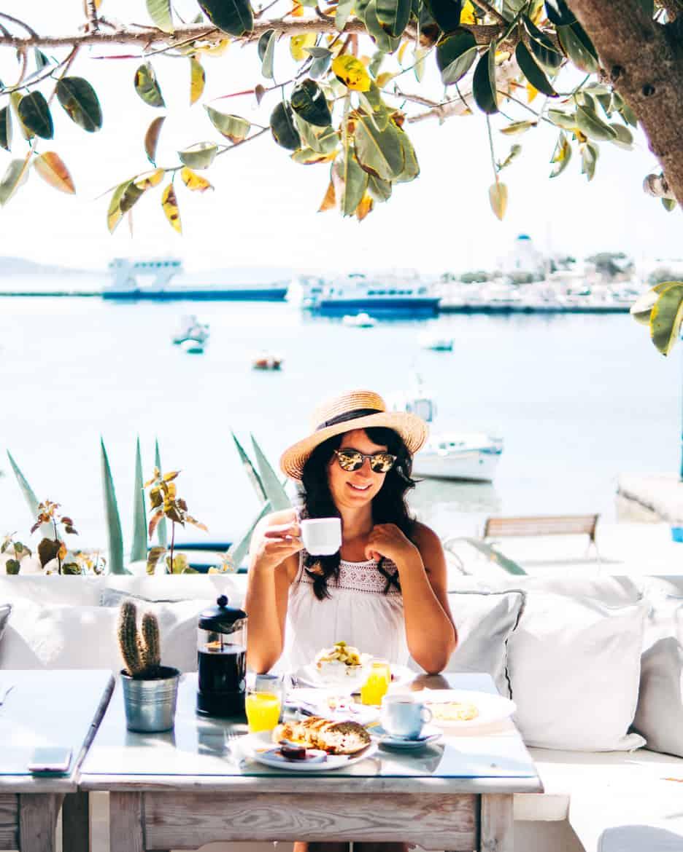 Geheimtipp Antiparos - Inselhopping auf den Kykladen - Artemis Hotel Frühstück