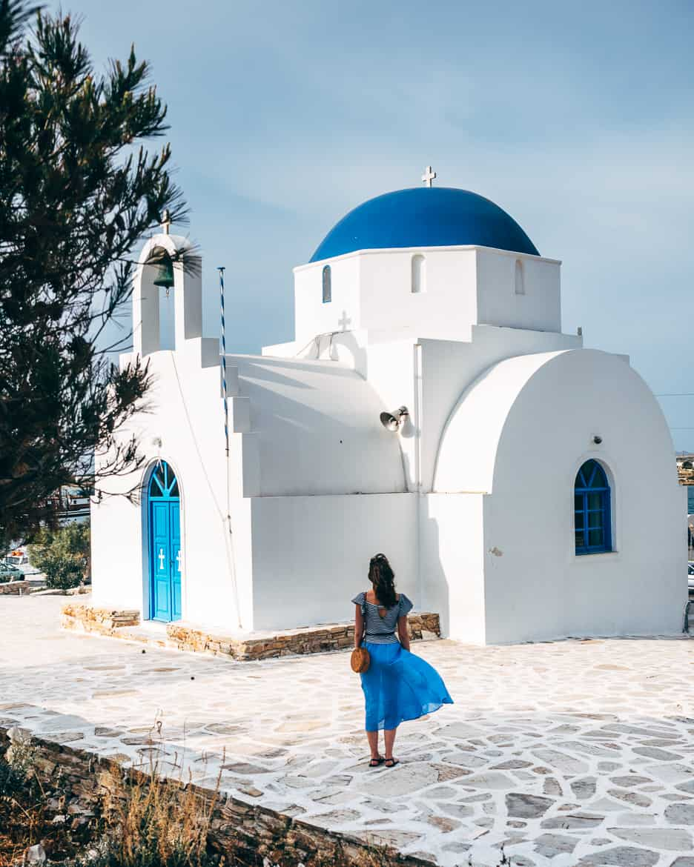 Geheimtipp Antiparos - Inselhopping auf den Kykladen - Agia Marina Kirche