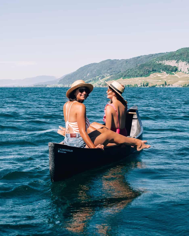 Jura & Drei-Seen-Land - 6 besondere Orte zum Natur genießen - Bielersee: Sonne genießen im Kanadier