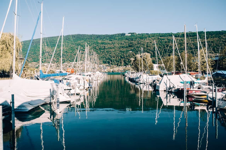 Jura & Drei-Seen-Land - 6 besondere Orte zum Natur genießen - Bieler See Nidau Hafen